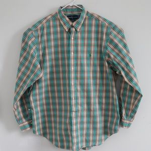 Ralph Lauren Mens Button Down Classic Fit Shirt